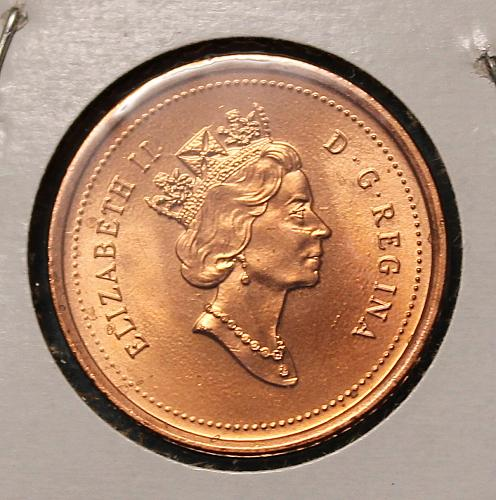 Canada 2001 one cent