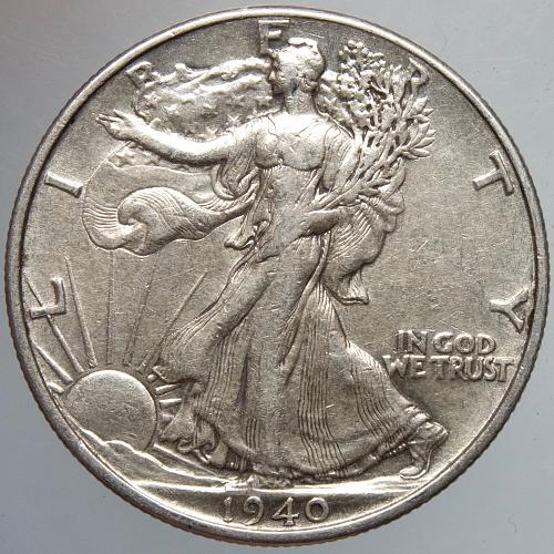 1940 P Walking Liberty Half Dollar #7