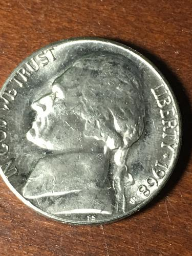 1968 S Jefferson Nickel Item 0419090