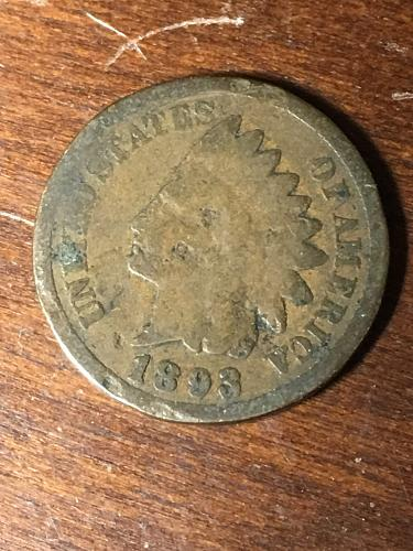 1893 Indian Head Cent item 0419096