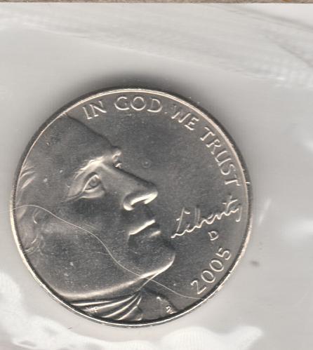 2005 D Jefferson Nickels: American Bison - #2