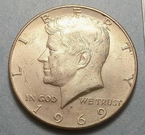1969D Kennedy Half Dollar Lot JKHNs