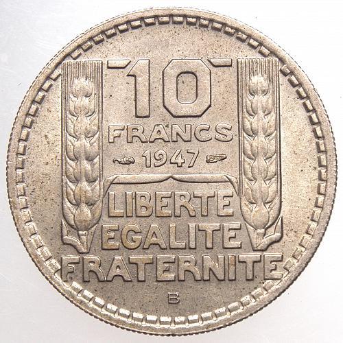 1947B  FRANCE 20 Francs Copper Nickel 26mm