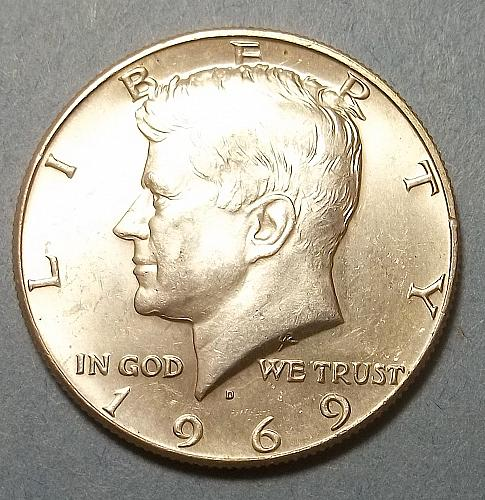 1969D Kennedy Half Dollar Lot JKHCc