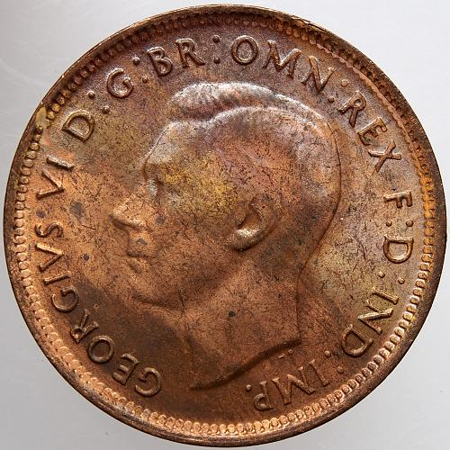1946 AUSTRALIA Half Penny 1/2P
