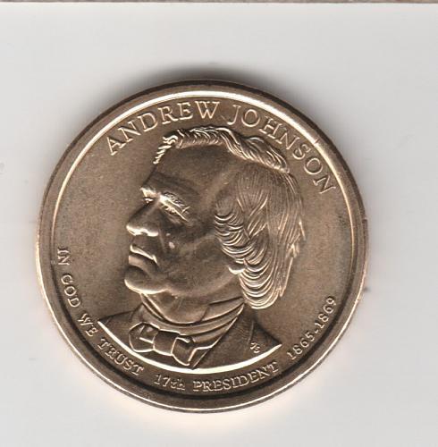 2011 D Presidential Dollars: Andrew Johnson - #3