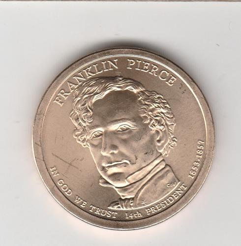 2010 P Presidential Dollars: Franklin Pierce - #3
