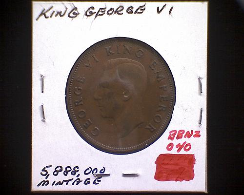 1947 NEW ZEALAND ONE PENNY