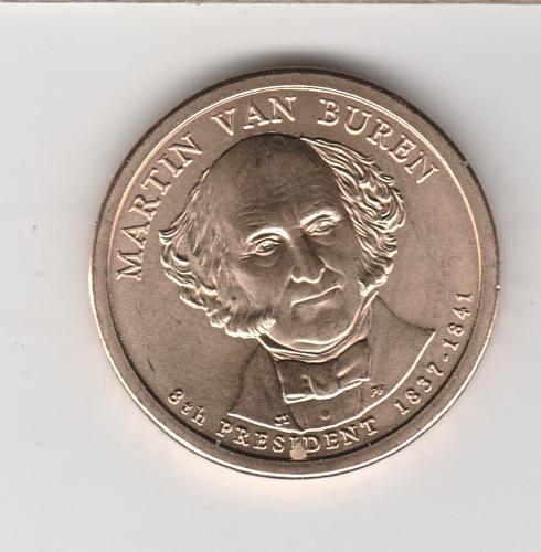 2007 P Presidential Dollars: Martin Van Buren - #3