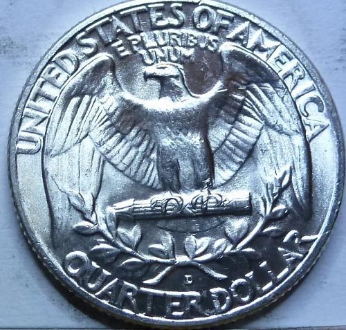 1958-D UNCIRCULATED Washington Quarter UNC ( W-711)