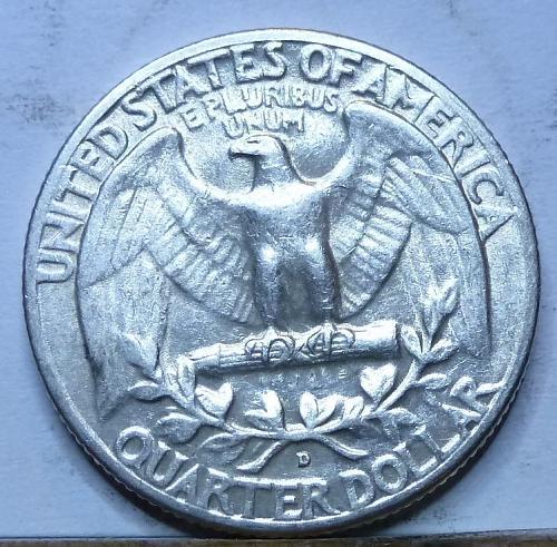1951-D EXTRA FINE Washington Quarter XF ( G-711)