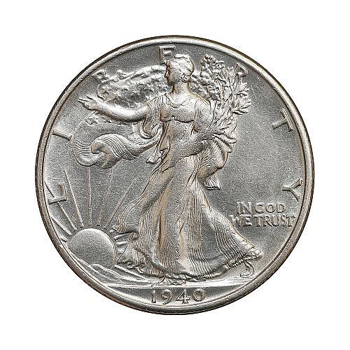 1940 S Walking Liberty Half Dollar - Gem BU / MS / UNC
