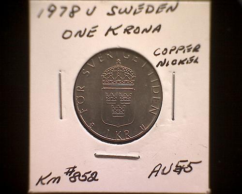 1978V SWEDEN ONE KRONA