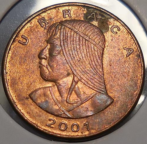 2001 Panama One Cent Piece