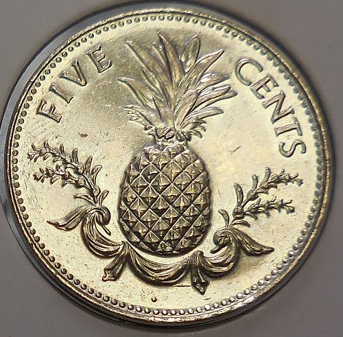 2000 Bahamas Five Cent Piece