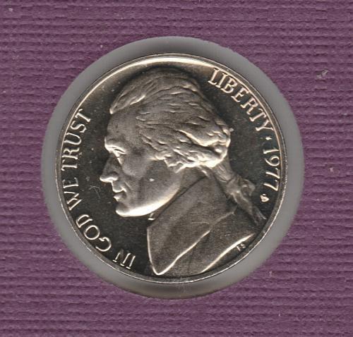 1977 S Proof Jefferson Nickels - #2