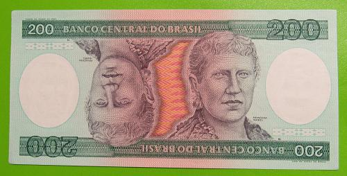 Brazil 200 Cruzeiros, 1984 - Crisp Uncirculated