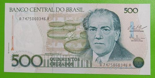 Brazil 500 Cruzados - Crisp Uncirculated