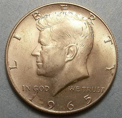 1965 P Kennedy Half Dollar Lot JKHdQ