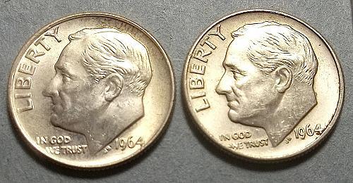 1964 P and D Roosevelt Dimes Lot JURdmhh