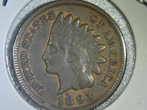 1893 P Indian Head Cent
