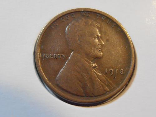 1918 S Lincoln Cent, Very nice coin (18SFN2)