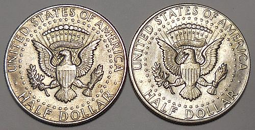 Two Kennedy Half Dollars 1967-P & 1968-D