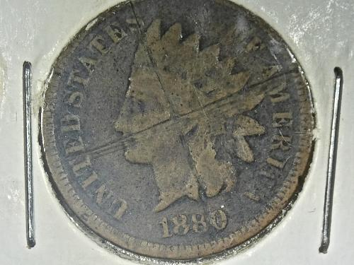 1880 P Indian Head cent