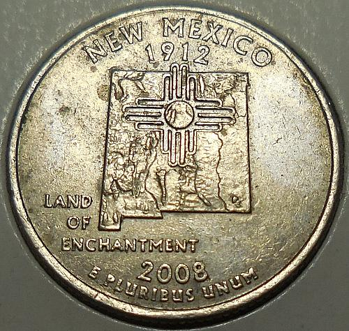 2008-P New Mexico Quarter Excessive Die Chips
