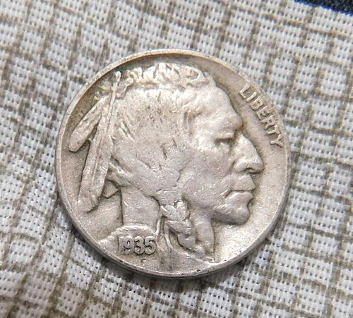 1935 D Buffalo//Indian Head Nickel