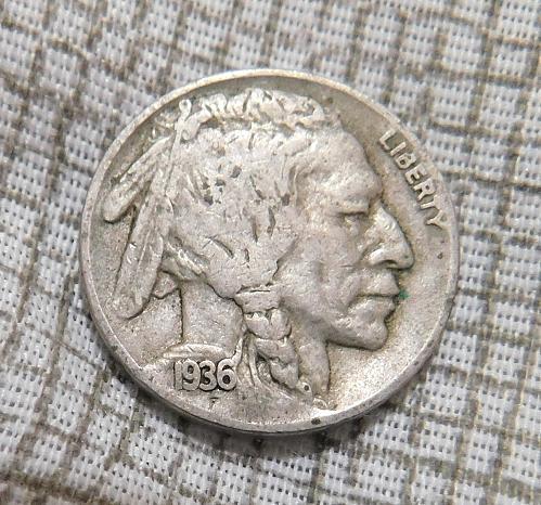 1936 D Buffalo//Indian Head Nickel