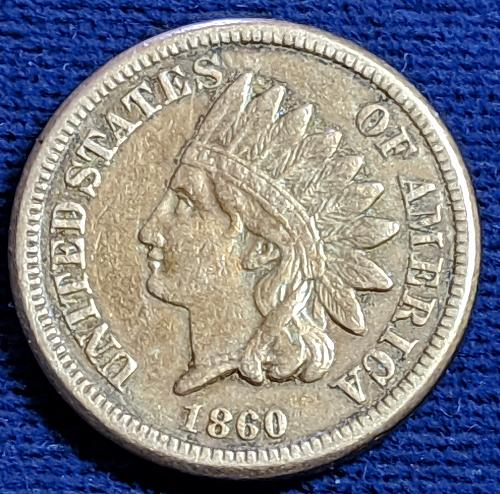 1860 VERY FINE INDIAN CENT