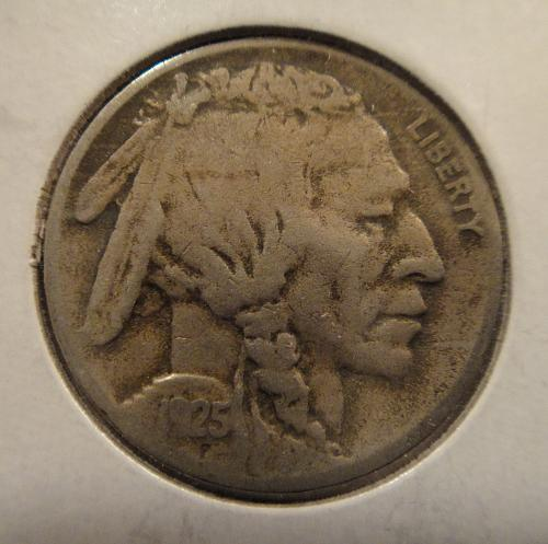 1925-D Buffalo Nickel Very Good-8+ Better Than Average Date Defintion!