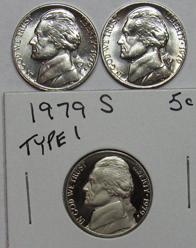 1979 P,D&S Jefferson Nickels