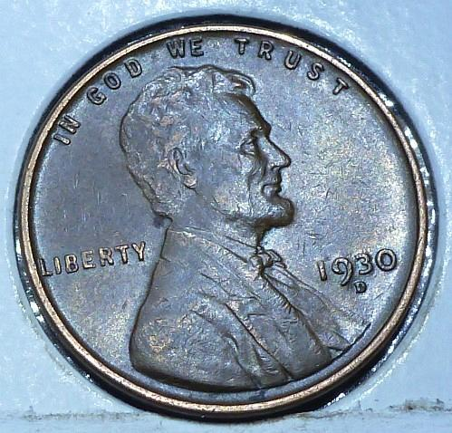 1930-D About Uncirculated Lincoln Wheat Cent (D71019)
