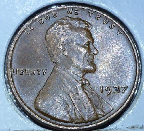1937-P About Uncirculated Lincoln Wheat Cent (C71019)