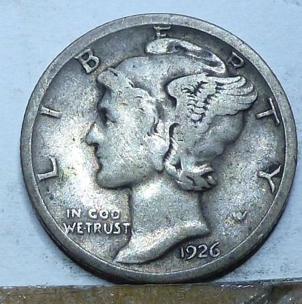 1926-S Very Fine Mercury Dime   ( A-6200 )