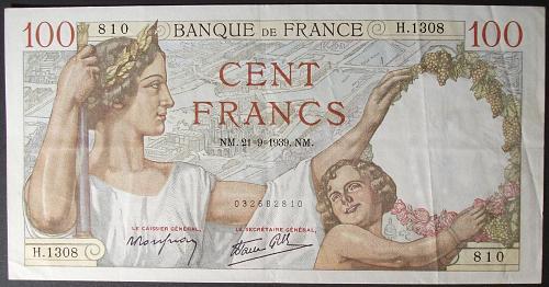 France P94 100 Francs VF+