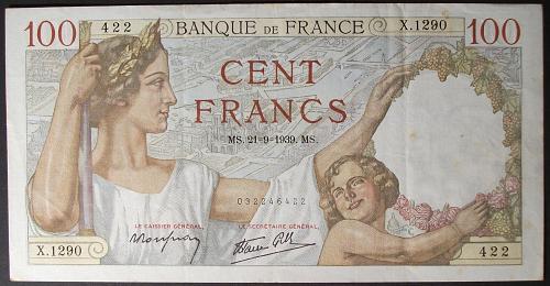 France P94 100 Francs VF++