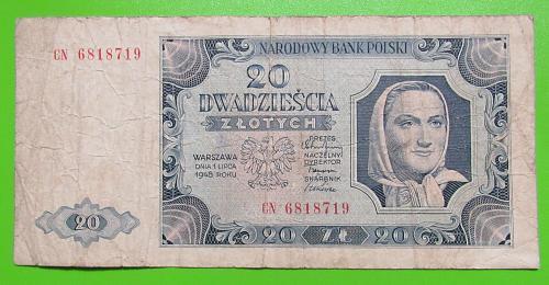 1948 Poland 20 Zlotych