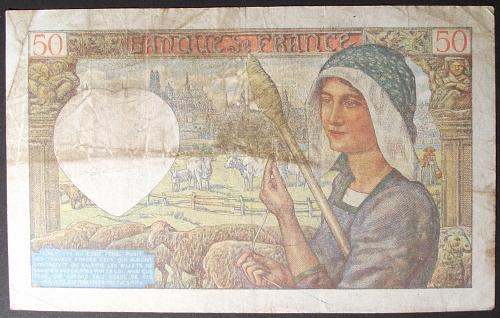 France P93 50 Francs VF