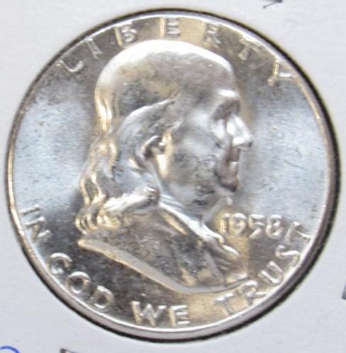 1958 P Franklin Half Dollar Proof Coin