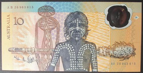 Australia P49b 10 Dollars UNC65