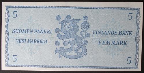 Finland P106Aa 5 Markka UNC63