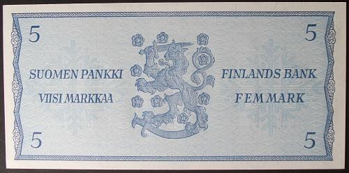 Finland P103a 5 Markka UNC63