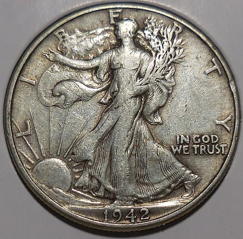 Walking Liberty Half Dollar 1942-P