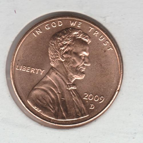 2009 D Lincoln Memorial Cent Small Cents: Presidency - #2