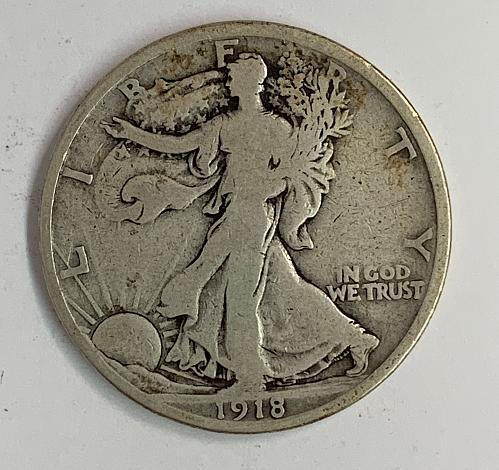 1918-D Walking Liberty Half Dollar VG [WL 78]