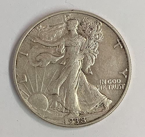 1938 Walking Liberty Half Dollar XF [WL 47]