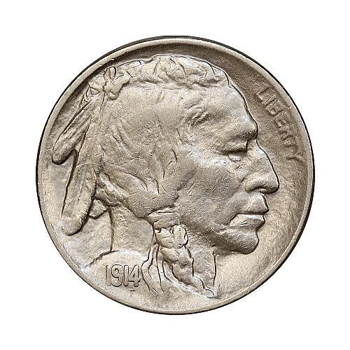 1914 P Buffalo Nickel - Gem BU / MS / UNC